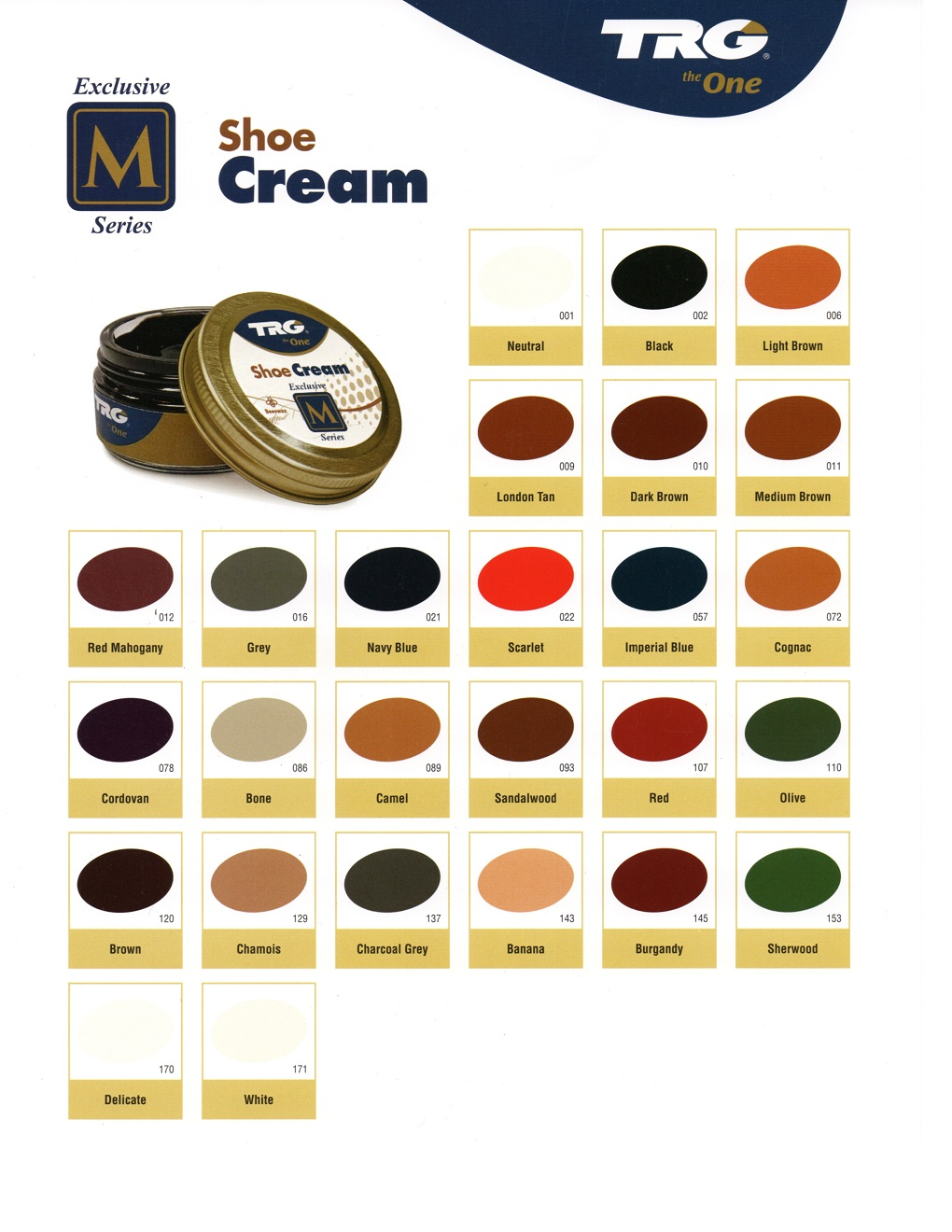 TRG Shoe Cream Polish (26 Colors available)